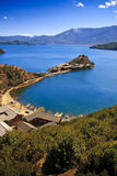 Lugu lake Yunnan. The mosuo lugu lake scenery Stock Images