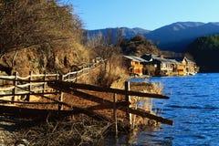 Lugu lake Yunnan. The mosuo lugu lake scenery Royalty Free Stock Image