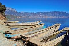 Lugu Lake in Yunnan Stock Image