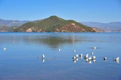 Lugu Lake in Yunnan Stock Photo