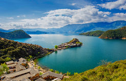 Lugu Lake in Yunnan, China Stock Image
