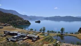Lugu See, das Königreich der Frauen Stockbilder