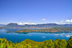 Lugu See, das Königreich der Frauen Stockbild