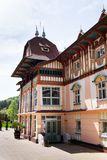 National cultural monument Jurkovicuv house from 1902 in spa Luhacovice, Czech republic. LUHACOVICE, CZECH REPUBLIC - APRIL 30 2018: National cultural monument royalty free stock photos