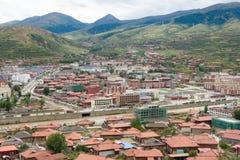 LUHUO, КИТАЙ - 18-ОЕ СЕНТЯБРЯ 2014: Городок Luhuo известный тибетский городок  Стоковое Фото