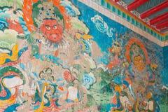 LUHUO, КИТАЙ - 18-ОЕ СЕНТЯБРЯ 2014: Настенная живопись на виске Shouling A Стоковое фото RF
