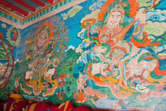 LUHUO, CHINA - SEP 18 2014: Wall painting at Shouling Temple. a Stock Photography