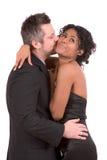 Lui donnant un baiser Photo libre de droits
