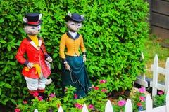 Lui et elle ornements de jardin de Fox Photo libre de droits