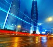 Lui notte di Schang-Hai fotografia stock libera da diritti