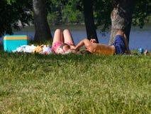 Lui-picknick royalty-vrije stock foto's