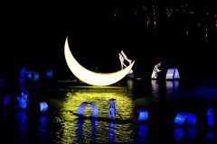 Lui Sanjie, Yangshuo , China, Open Air Event With Light Show, Music, Dance Royalty Free Stock Images