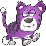 Lui Slaperig Tiger Vector Stock Foto
