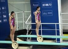 Lui Zi e Wu Minxia della Cina Immagine Stock