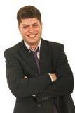 Luid lachen van de zakenman uit royalty-vrije stock foto
