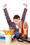 Luie, bored student, geïsoleerdev beambte, Royalty-vrije Stock Foto