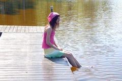 Luie dagen op de brug Stock Fotografie