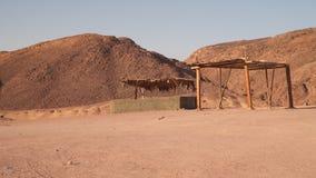 Luifel van de zon in de woestijn stock videobeelden