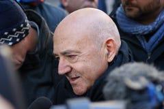 Luigi Angeletti, итальянский профсоюзный руководитель UIL Стоковые Фотографии RF