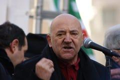 Luigi Angeletti, итальянский профсоюзный руководитель UIL Стоковое фото RF