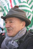 Luigi Angeletti , italian UIL union leader Stock Photos