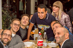 Luigi Di Maio. Bologna, Italy - September 25, 2015:  Luigi Di Maio at a restaurant in Bologna  with his supporters, during  an dinner event for financing Stock Images