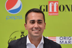 Luigi Di Maio at Giffoni Film Festival 2017. Giffoni Valle Piana, Sa, Italy - July 22, 2017 : Luigi Di Maio at Giffoni Film Festival 2017 - on July 22, 2017 in Royalty Free Stock Images