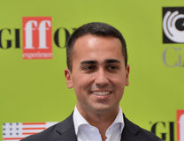 Luigi Di Maio at Giffoni Film Festival 2017. Giffoni Valle Piana, Sa, Italy - July 22, 2017 : Luigi Di Maio at Giffoni Film Festival 2017 - on July 22, 2017 in Royalty Free Stock Photo