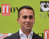 Luigi Di Maio at Giffoni Film Festival 2017. Giffoni Valle Piana, Sa, Italy - July 22, 2017 : Luigi Di Maio at Giffoni Film Festival 2017 - on July 22, 2017 in Royalty Free Stock Photography