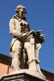 Luigi Galvani. Statue in Bologna, Italy. Famous physician and physicist Stock Photos