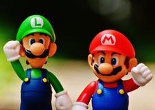 Luigi and Super Mario Figure stock image