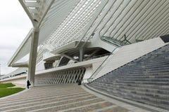 Luik-Guillemins现代火车站Liège-Guillemins 库存照片