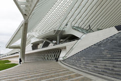 Luik-Guillemins modern järnvägsstation Liège-Guillemins Arkivfoto