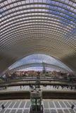 Luik Guillemins stacja kolejowa Santiago Calatrava fotografia royalty free