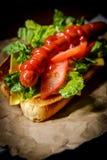 Luim Geroosterde Hotdog royalty-vrije stock afbeelding