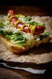 Luim Geroosterde Hotdog royalty-vrije stock afbeeldingen