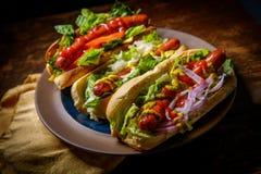 Luim Geroosterde Hotdogs royalty-vrije stock afbeeldingen