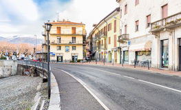 Luino, παλαιά πόλη, Ιταλία Στοκ εικόνα με δικαίωμα ελεύθερης χρήσης