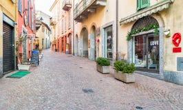 Luino, παλαιά πόλη, Ιταλία Στοκ φωτογραφία με δικαίωμα ελεύθερης χρήσης