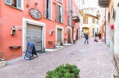 Luino, παλαιά πόλη, Ιταλία Στοκ Φωτογραφία