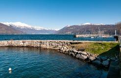 Luino auf See Maggiore Lizenzfreies Stockfoto