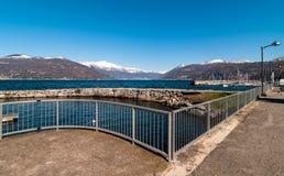 Luino auf See Maggiore Stockfotos