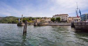 Luino - lac Maggiore, Lombardie, Italie, l'Europe Photographie stock libre de droits