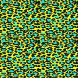 In Luipaard of jachtluipaardhuid naadloos patroon, dierlijke bontrug stock illustratie