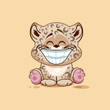 Luipaardwelp met reusachtige glimlach Stock Fotografie