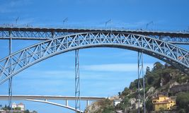 luis Οπόρτο DOM 1 γέφυρας Στοκ εικόνα με δικαίωμα ελεύθερης χρήσης