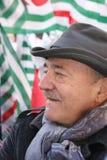 Luis Angeletti, dirigente sindical italiano de UIL Fotografía de archivo
