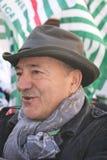 Luis Angeletti, dirigente sindical italiano de UIL Fotos de archivo