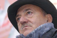 Luis Angeletti, dirigente sindical italiano de UIL Foto de archivo libre de regalías