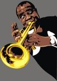 Luis Armstrong - mój oryginalna karykatura ilustracji
